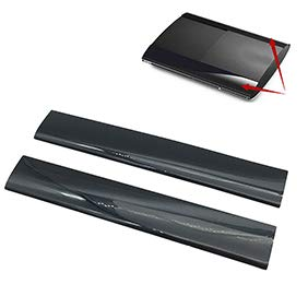 (TYewa98556 Left Right Faceplate Case Shell Cover Replacement for PS3 Slim 4000 Game Console)