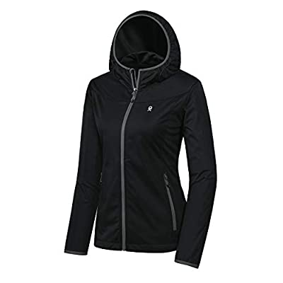 Little Donkey Andy Women's Lightweight Hooded Softshell Jacket for Travel Hiking Running, Windproof, Water Repellent: Clothing