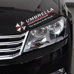 2pcs Umbrella Corporation Sticker Decal Aufkleber 35x10cm Eybrow Racoon Resident Evil Jdm Car Pick Up Ford