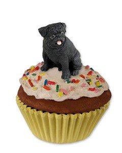(Pug PupCake Dog Trinket Box - Black)