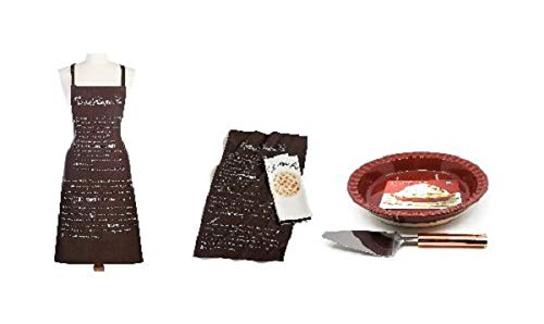 Pumpkin Pie Bakers Gift Set Including Baking Dish, Pie Server, Apron and Kitchen Towels