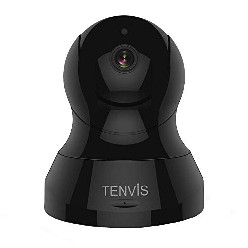 Pet Camera - TENVIS 720P HD Security Camera, Home Surveillance Camera for Pet/Baby Monitoring with 32 FT Night Vision, Two-Way Audio and Motion Detection, Wireless Dome Camera with iOS, Android ()