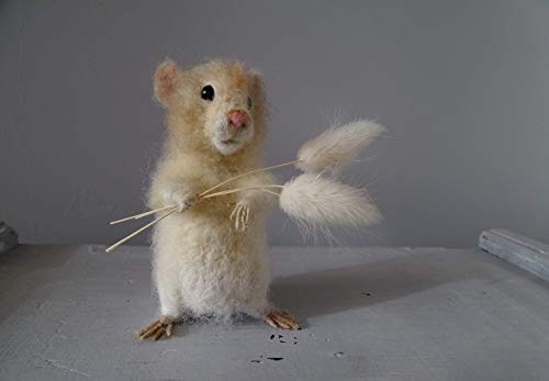 Needle Felted Hamster Wool Sculpture Pet Portrait Animal lover gifts