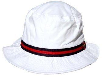 Dorfman Pacific Cotton Water Repellent Traditional Rain Bucket Hat, Small, White