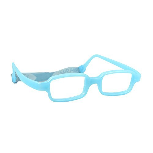 Miraflex New Baby3 Kids Eye Glass Frames | 45/17 Light Blue Pearl | Age:8-11 by - Online Frames Eyeglasses