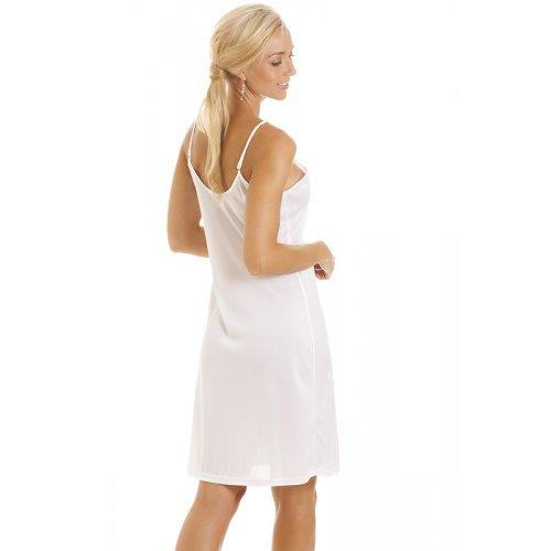 Fond de robe courte blanche