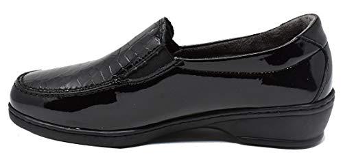 Femme Noir Notton Ville Chaussures pour à de Lacets qx0Yfn0BP