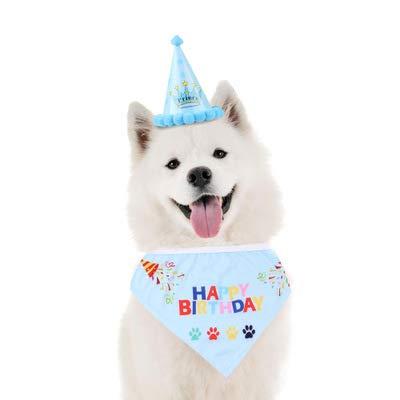 YUET Perros Gatos Perros Gato Gorro de Cumpleaños Bandana ...