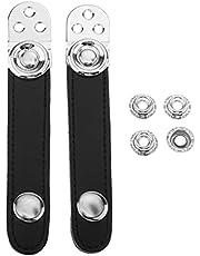 TOOYFUL Accordion Bellows Strap Clasp PU Leather, Center Distance 7cm ~ 8.6cm - 8.2cm