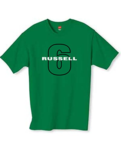 Russell Cotton Throw (Mens Russell 6 Throwback Kelly Green T Shirt Size)