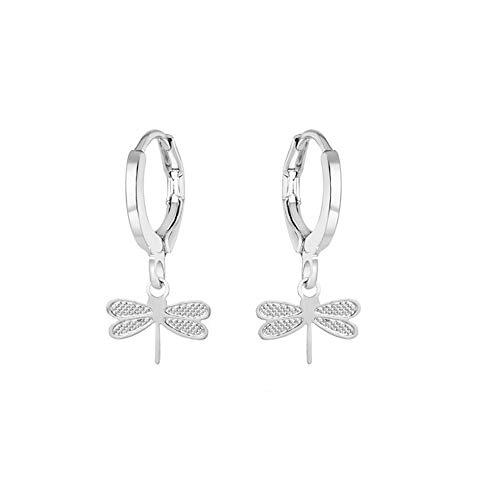 Diamond Circle Drop Pendant - Sinfu Women's Circle Hoop Earrings Peach Hearts Snowflakes Drop Pendant Earrings (B)