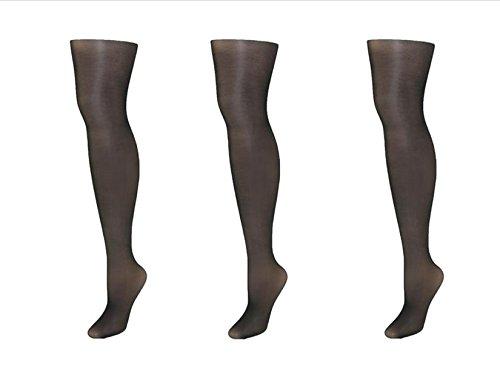 Just My Size Nylon Silky Sheer Run Resistant Pantyhose, 4X, Black