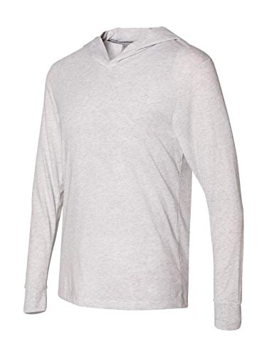 Next Level 6021 Tri-Blend Long Sleeve Hoody - Heather White - M