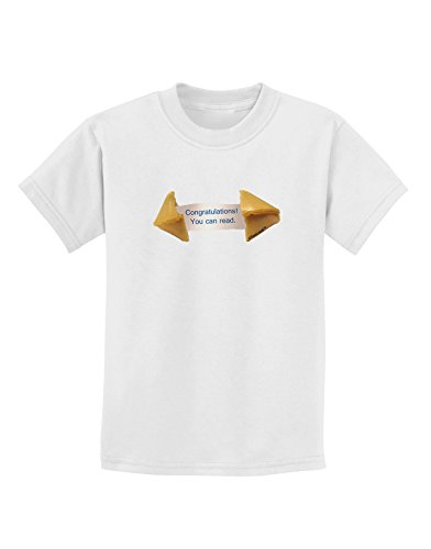 TooLoud Sarcastic Fortune Cookie Childrens T-Shirt - White - (White Fortune Cookies)