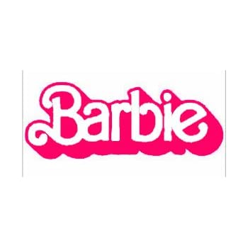 amazon com barbie logo 6 pink car truck vinyl decal art wall rh amazon com mattel barbie logo font barbie logo font generator