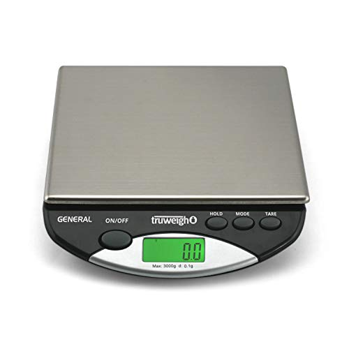 (GENERAL Compact Bench Scale 3000g x 0.1g Black)