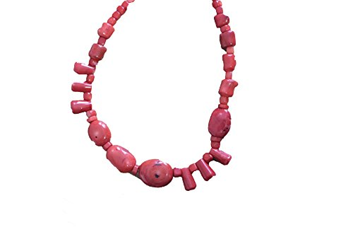 Barse Red Bamboo Coral Necklace
