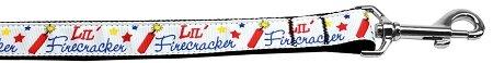 Mirage Pet Products Little Firecracker Nylon Dog Leash 5/8 inch Wide 4ft - Firecracker Dog