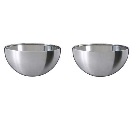 ikea stainless steel serving bowl 2 pack 5 blanda blank buy online in uae products in. Black Bedroom Furniture Sets. Home Design Ideas