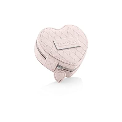 Pandora P00051 Travel Jewellery Box Pink Heart Case With Zip