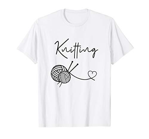 Womens Knitting Shirt for Women Funny I Love Knitting