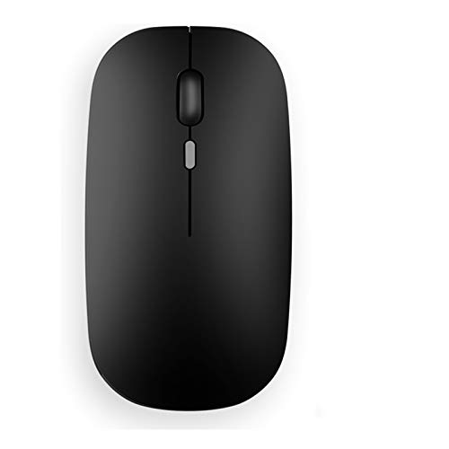 TENMOS T9 Silent Wireless Mouse, 2.4G Ultra Slim Portable Travel Mouse Optical Computer Mice with Nano Receiver Compatible with Notebook, PC, Laptop, Computer (Matte Black)