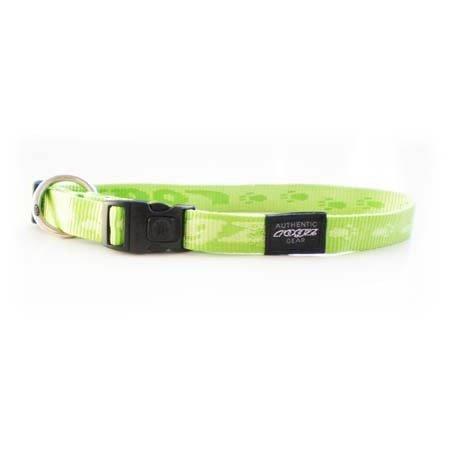 Rogz Alpinist Everest Lime Dog collar - XLarge