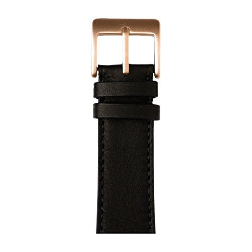 Roobaya | Premium Sauvage Leather Apple Watch Band in Black | Includes Adapters matching the Color of the Apple Watch, Case Color:Rose Gold Aluminum, Size:38 mm by Roobaya