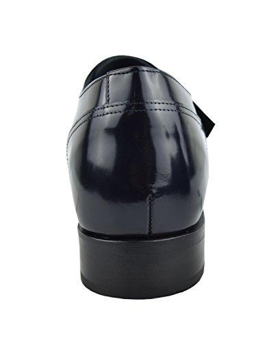 Zerimar Scarpe con Rialzo per Uomo Che Permettono di Aumentare la Statura Fino a +7 cm | Scarpe da Uomo con Aumento| Scarpe Che Aumentare la Tua Altezza Blu