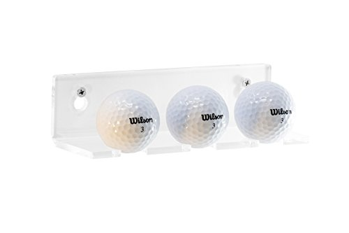 Better Display Cases Clear Acrylic Golf Ball Wall Mounted Floating Shelf Bracket 3 Golf Balls Display (A066)
