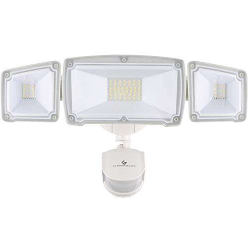GLORIOUS-LITE 39W LED Security Light, 3500LM Motion Sensor Light Outdoor, IP65 Waterproof & ETL Certification, 5500K, 3 Adjustable Head Flood Security Light for Garage, Yard, Pathway & Patio
