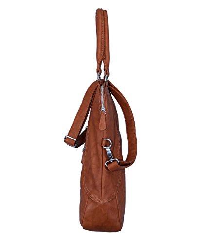 Fritzi-belmira-saddle-brandy-hobo Schultertasche 40x37x12