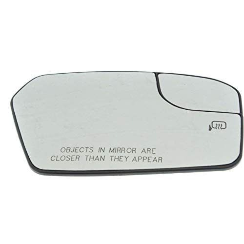 (Mirror Glass For 2011-2012 Ford Fusion Right With Backing Plate)