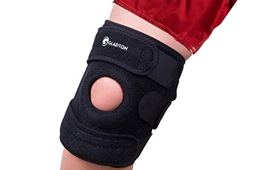 Gladton Large XL XXL XXXL 2XL 3XL Knee Brace Support for Running Meniscus Tear Arthritis ACL MCL Pain Sports. Open Patella Adjustable Stabilizers for Plus Size Big Large Legs Thighs Women Men. 4 Sizes