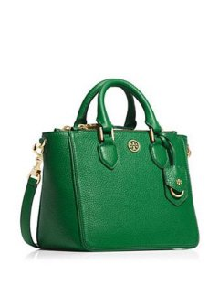 9e98ecf760ab Tory Burch Leather Bag Robinson Robinson Pebbled Mini Square Tote Green New  Authentic  Handbags  Amazon.com