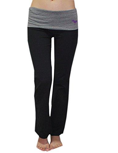 Womens NFL Minnesota Vikings Yoga Pants by Pink Victoria's Secret L Black