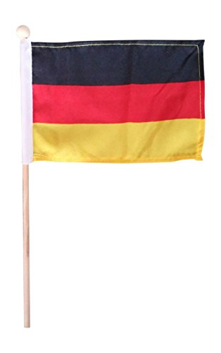 Tinisa's World 10 Premium 4x6 Inch German Germany Hand Held Mini Stick Flags Safety Ball Top (Top Ten Best Flags)