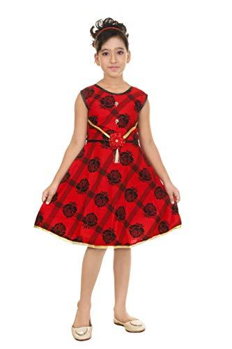 KIDS ZONE Minnie Girls Midi/Knee Length Casual Dress