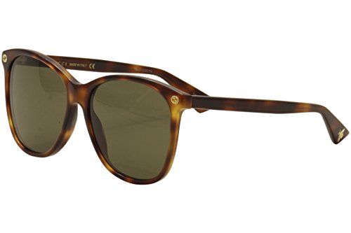 Gucci GG0024S 002 Havana 0024S Round Sunglasses Lens Category 3 Size 58mm ()