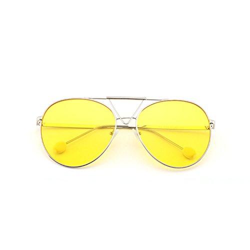 Gafas Gafas Sol de Round Sol Big Sol Ocean A Face de B Retro Glasses Gafas de Transparent Color 1EFqwprxE