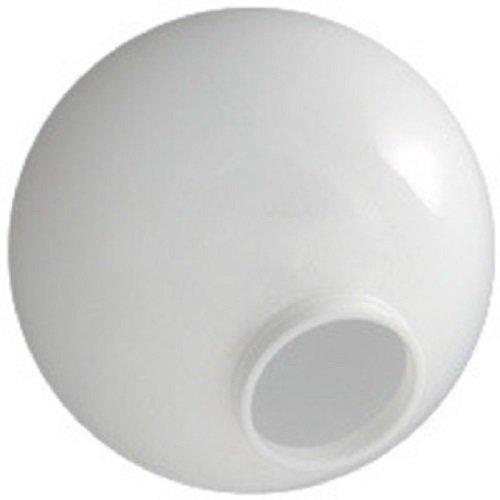 Lamp Post Globes etc. 12'' White Acrylic Globe with 3.91'' Twist Lock Neck