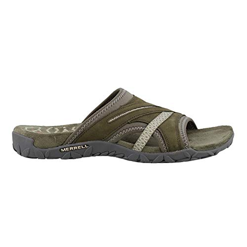Merrell Women's Terran Slide II Dusty Olive 7 M US (Slip Sandals Merrell)