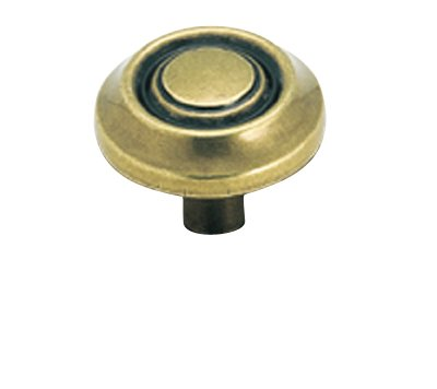 "Amerock Traditional Classics 1 1/4"" Cabinet Knob Burnished Brass"