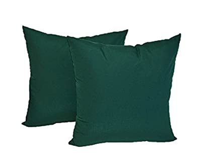 Amazon Set Of 40 Indoor Outdoor Square Decorative Throw Extraordinary Hunter Green Decorative Pillows