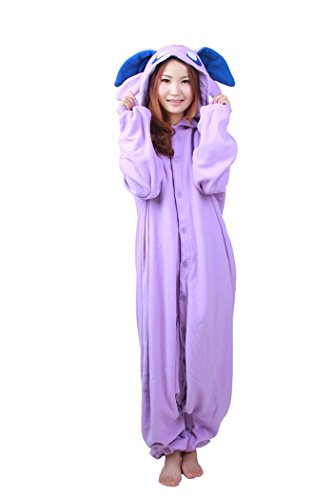 Cousinpjs Adult Cosplay Costume Animal Sleepwear Halloween Pajamas (Medium, Purple Espeon)
