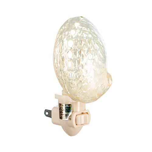 Sea Shell Night Light | Pearled Abalone Shell Nautical Night Light | Home Decor | Plus Free Nautical Ebook by Joseph Rains (Shell Lamp Abalone)