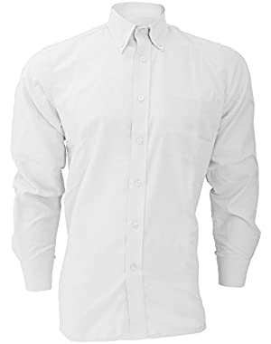 Long Sleeve Cotton/Polyester Oxford Shirt / Mens Shirts