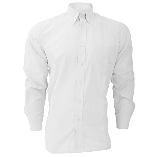 Dickies Long Sleeve Oxford Shirt (Dickies Long Sleeve Cotton/Polyester Oxford Shirt/Mens Shirts (18.5inch) (White))