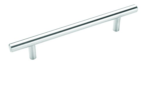 (Bar Pulls 5-1/16 in (128 mm) Center-to-Center Sterling Nickel Cabinet Pull - 10 Pack - 10BX19541CSG9)
