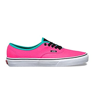 Vans Unisex Authentic Brite Skate Shoes-Brite Neon Pink/Black-5-Women/3.5-Men